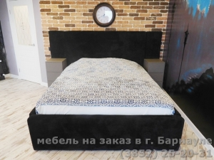 """Кровать: """"Черный велюр"""""""